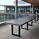 Outdoor commercial concrete Zen table