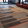 Custom concrete floor tiles for entrenceway by Trueform Concrete.