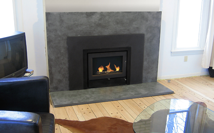 Trueform Custom Concrete Fireplace Surround