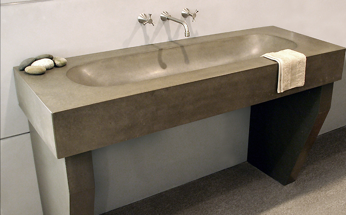 Cement Bathroom Sink : Custom Concrete Bathroom Sinks - Trueform Concrete