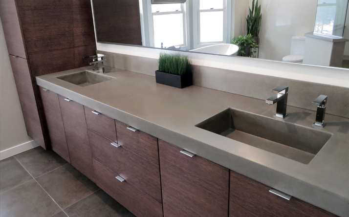 custom concrete bathroom sinks trueform concrete 13527
