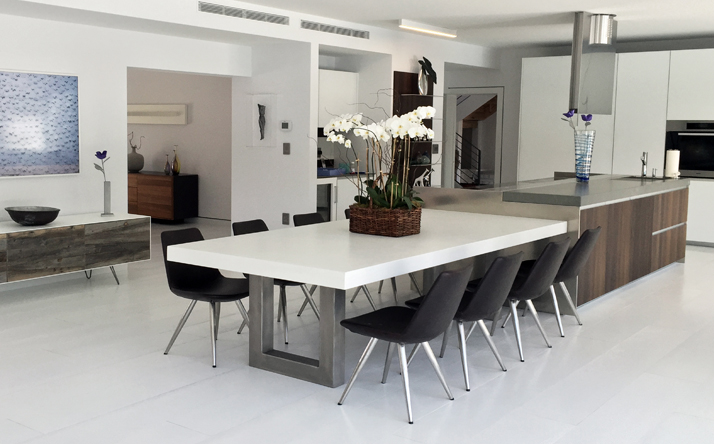 Cement Table And Chairs Expert Event - Faux concrete outdoor dining table