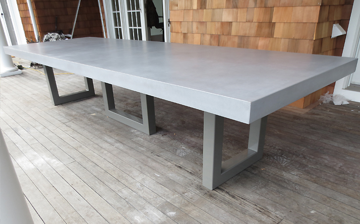 There Is An Unmistakable Presence That A Concrete Table Has In Dining Room Kitchen Living Or Commercial Space