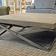 Gray square custom Mobius Concrete Coffee Table. Trueform Concrete.