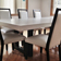 Large white custom zen Trueform concrete dining, kitchen or conference table.